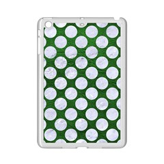 Circles2 White Marble & Green Leather Ipad Mini 2 Enamel Coated Cases