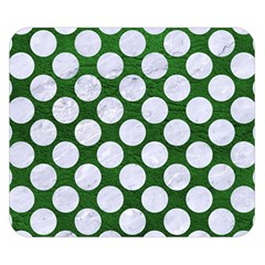 Circles2 White Marble & Green Leather Double Sided Flano Blanket (small)