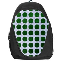 Circles1 White Marble & Green Leather (r) Backpack Bag
