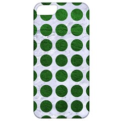 Circles1 White Marble & Green Leather (r) Apple Iphone 5 Classic Hardshell Case