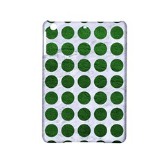 Circles1 White Marble & Green Leather (r) Ipad Mini 2 Hardshell Cases