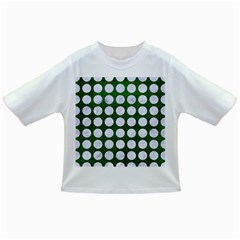 Circles1 White Marble & Green Leather Infant/toddler T Shirts