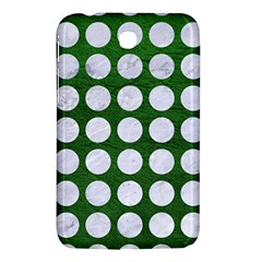 Circles1 White Marble & Green Leather Samsung Galaxy Tab 3 (7 ) P3200 Hardshell Case