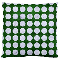 Circles1 White Marble & Green Leather Standard Flano Cushion Case (two Sides)