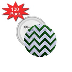 Chevron9 White Marble & Green Leather (r) 1 75  Buttons (100 Pack)