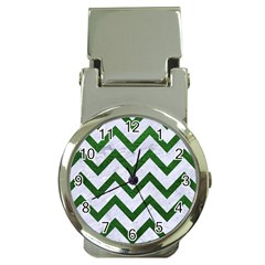 Chevron9 White Marble & Green Leather (r) Money Clip Watches