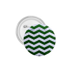 Chevron3 White Marble & Green Leather 1 75  Buttons by trendistuff