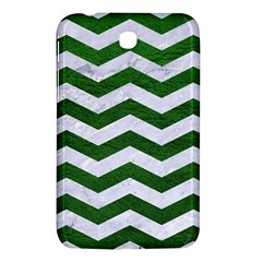 Chevron3 White Marble & Green Leather Samsung Galaxy Tab 3 (7 ) P3200 Hardshell Case