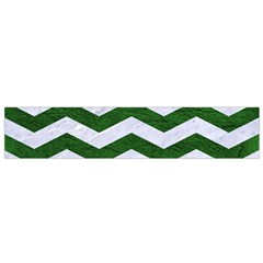 Chevron3 White Marble & Green Leather Small Flano Scarf