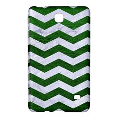 Chevron3 White Marble & Green Leather Samsung Galaxy Tab 4 (7 ) Hardshell Case