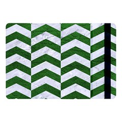Chevron2 White Marble & Green Leather Apple Ipad Pro 10 5   Flip Case