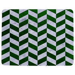 Chevron1 White Marble & Green Leather Jigsaw Puzzle Photo Stand (rectangular)
