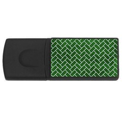Brick2 White Marble & Green Leather Rectangular Usb Flash Drive