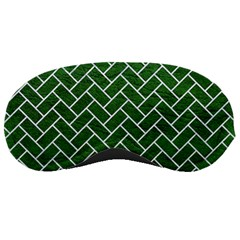 Brick2 White Marble & Green Leather Sleeping Masks