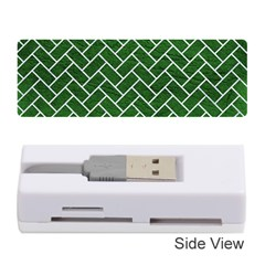 Brick2 White Marble & Green Leather Memory Card Reader (stick)