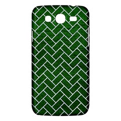 Brick2 White Marble & Green Leather Samsung Galaxy Mega 5 8 I9152 Hardshell Case