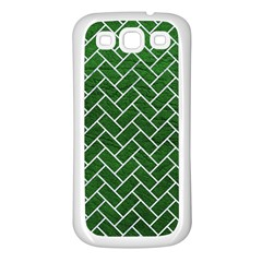Brick2 White Marble & Green Leather Samsung Galaxy S3 Back Case (white)