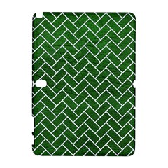 Brick2 White Marble & Green Leather Samsung Galaxy Note 10 1 (p600) Hardshell Case