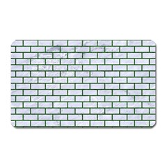 Brick1 White Marble & Green Leather (r) Magnet (rectangular)