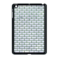 Brick1 White Marble & Green Leather (r) Apple Ipad Mini Case (black) by trendistuff