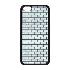 Brick1 White Marble & Green Leather (r) Apple Iphone 5c Seamless Case (black)