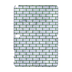 Brick1 White Marble & Green Leather (r) Samsung Galaxy Note 10 1 (p600) Hardshell Case