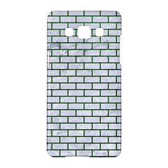 Brick1 White Marble & Green Leather (r) Samsung Galaxy A5 Hardshell Case