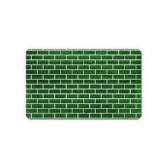 Brick1 White Marble & Green Leather Magnet (name Card)