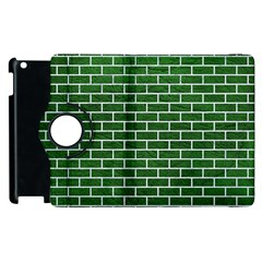 Brick1 White Marble & Green Leather Apple Ipad 3/4 Flip 360 Case