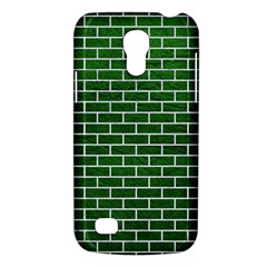 Brick1 White Marble & Green Leather Samsung Galaxy S4 Mini (gt I9190) Hardshell Case