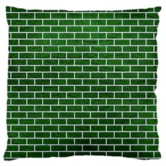 Brick1 White Marble & Green Leather Standard Flano Cushion Case (one Side)