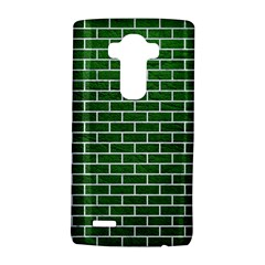 Brick1 White Marble & Green Leather Lg
