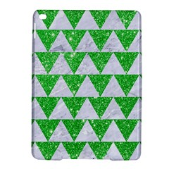 Triangle2 White Marble & Green Glitter Ipad Air 2 Hardshell Cases