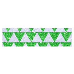 Triangle2 White Marble & Green Glitter Satin Scarf (oblong)