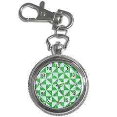 Triangle1 White Marble & Green Glitter Key Chain Watches by trendistuff