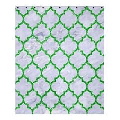 Tile1 (r) White Marble & Green Glitter Shower Curtain 60  X 72  (medium)