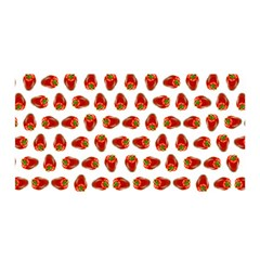 Red Peppers Pattern Satin Wrap by SuperPatterns