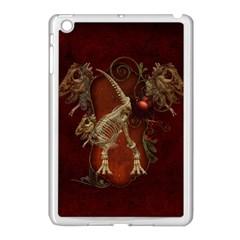 Awesome T Rex Skeleton, Vintage Background Apple Ipad Mini Case (white)