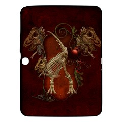 Awesome T Rex Skeleton, Vintage Background Samsung Galaxy Tab 3 (10 1 ) P5200 Hardshell Case