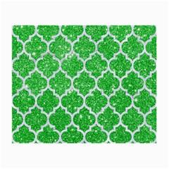 Tile1 White Marble & Green Glitter Small Glasses Cloth