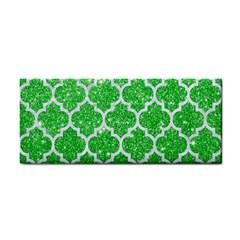 Tile1 White Marble & Green Glitter Hand Towel
