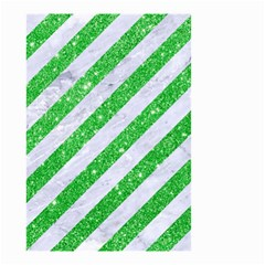 Stripes3 White Marble & Green Glitter (r) Small Garden Flag (two Sides)