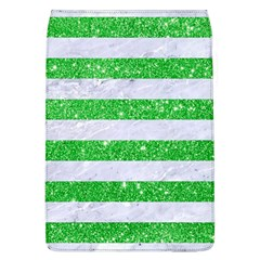 Stripes2 White Marble & Green Glitter Flap Covers (l)