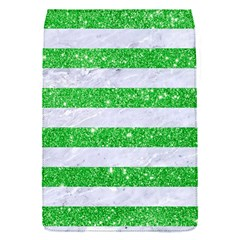 Stripes2 White Marble & Green Glitter Flap Covers (s)