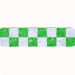 Square1 White Marble & Green Glitter Large Bar Mats