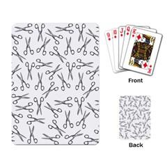 Scissors Pattern Playing Card
