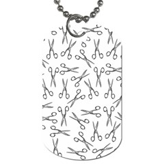 Scissors Pattern Dog Tag (two Sides)