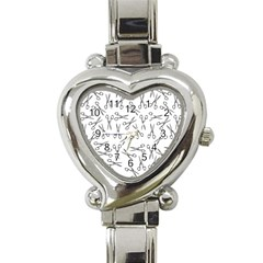 Scissors Pattern Heart Italian Charm Watch