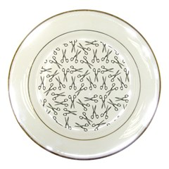 Scissors Pattern Porcelain Plates