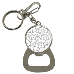 Scissors Pattern Bottle Opener Key Chains